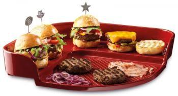 Kamień na grill do burgerów, czerwony - Emile Henry
