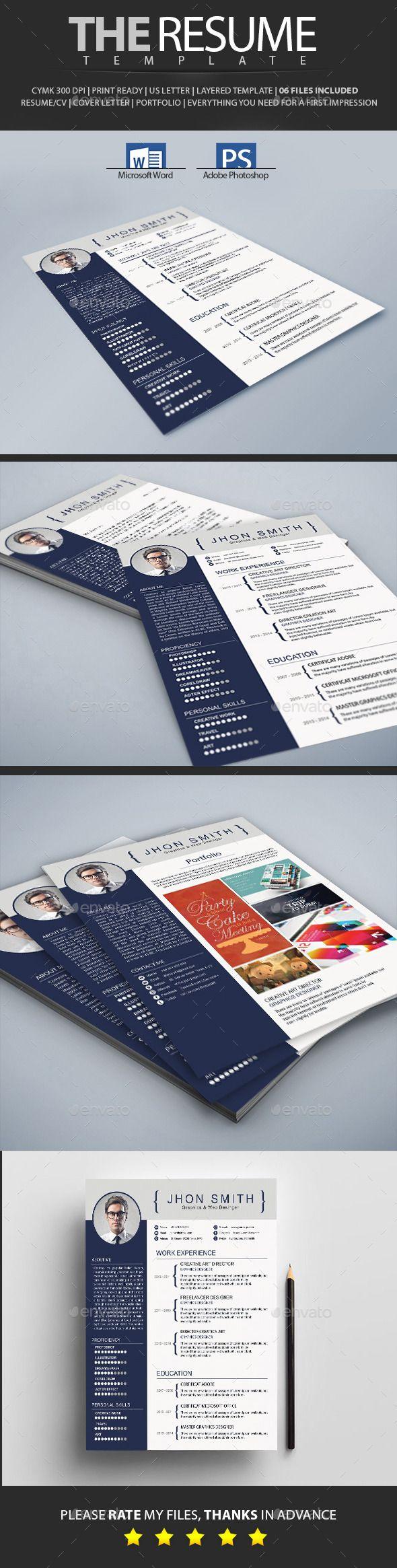Resume 33 best Professional Resume Creative Market