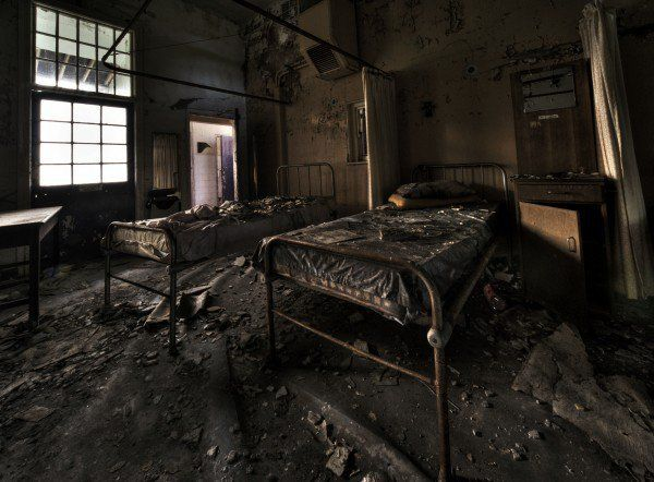 Cane Hill was an insane asylum in Croydon, London in use until 1991 when – by all appearances – everyone just got up and walked out. Some of the inmates were transferred to other secure locations but the hospital, and much of the medical apparatus still remains.