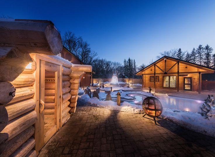 Thermëa by Nordik Spa-Nature in Winnipeg, Manitoba. The winter spa experience! #exploremb