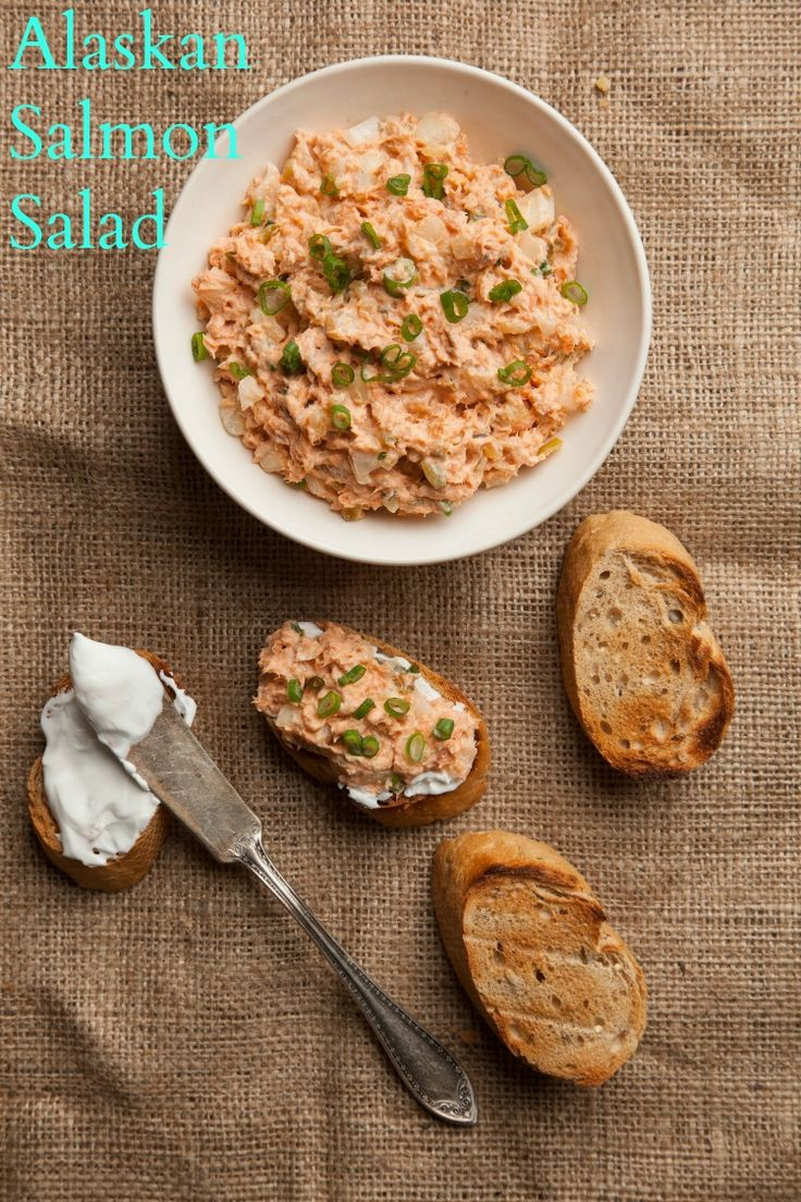 Alaskan Salmon Salad would be perfect for Shabbat lunch or third meal.: Alaska Recipes, Shabbat Recipes, Salmon Salad, Recipes Alaskan, Jewish Recipes, Alaskan Salmon, Potatoes Flakes, Alaskan Recipes, Salmon Spread