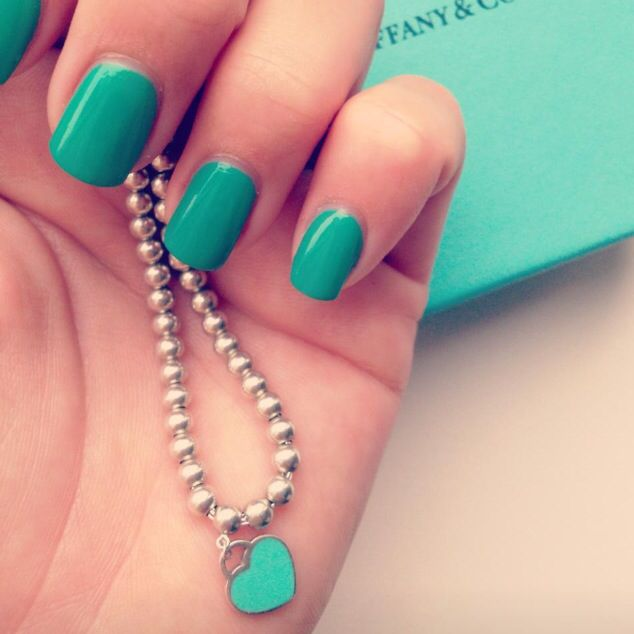Tiffany blue Nails  Nails by Netanya Luschen  Www.netanyaluschen.nl