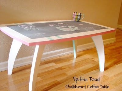 Spittin Toad Awesome Chalkboard Coffee Table