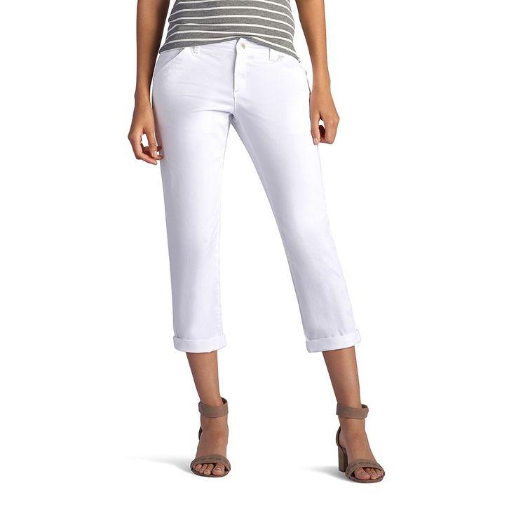 Women's Lee Essential Chino Capris, Size: 8 - regular, White