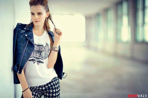 Y cuando se puso provocadora para Teen Vogue. | Los 28 momentos m�s perfectos de Emma Watson del 2013