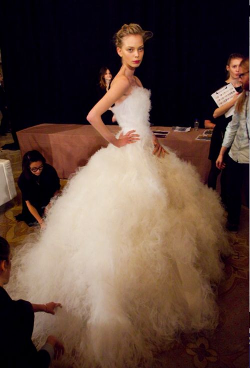 i think this may be Vera Wang; it may be her in the corner of this photo. this is amazing!!