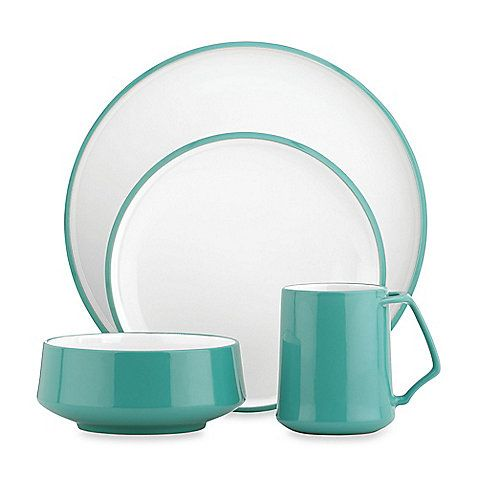 This stylish dinnerware offers a contemporary yet classic pattern that consists of simple lines and inviting shapes. Crafted of stoneware, it is durable and practical for everyday use.