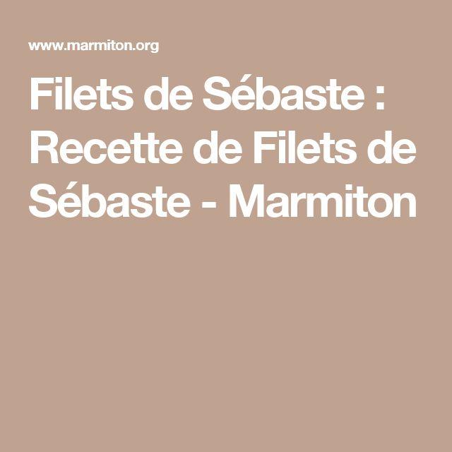 Filets de Sébaste : Recette de Filets de Sébaste - Marmiton
