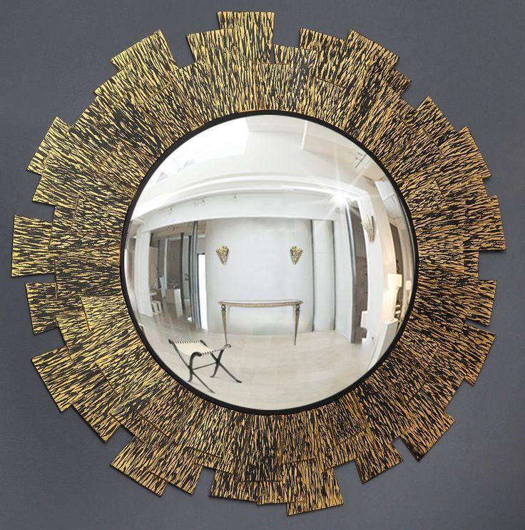 FLAME MIRROR Bronze, gold leaf