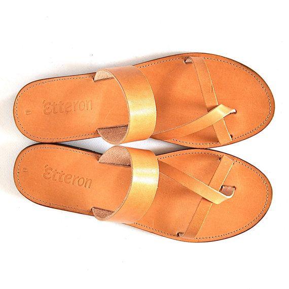 Leder Sandalen / Classic Kreuz Riemen Frauen Sandalen / Griechisch handgemachte Sandalen / Leder, Sohlen
