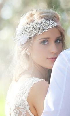 head piece // Outdoor Garden Backyard DIY Elegant Wedding Ideas and Inspiration