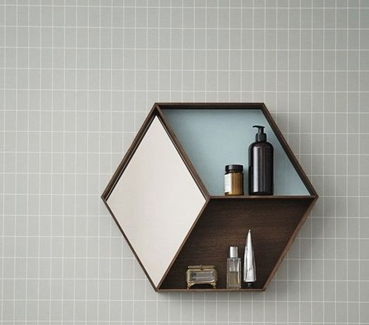 Hexagon Shelf Diy Pinterest Bathroom Wall And Shelves