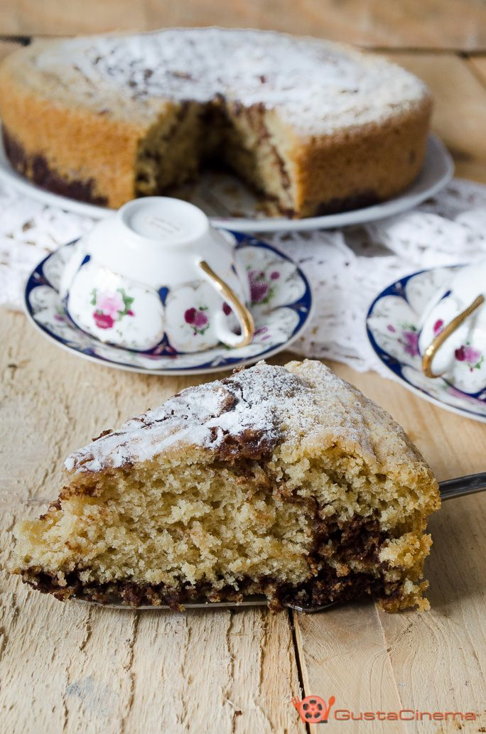 Nutella pound cake without eggs and butter - Torta marmorizzata alla nutella senza uova e burro è un dolce soffice e goloso, ottimo per la prima colazione o a merenda. Formato da un doppio impasto chiaro e scuro, che durante la cottura si infiltrano l'uno nell'altro, formando delle venature come quelle del marmo.