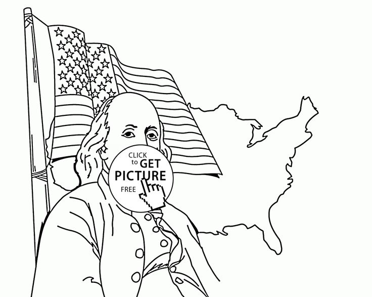coloring pages ben franklin - photo#20