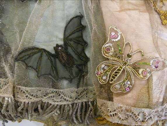 NIGHT&DAY dress by C.F. Worth 1858 - A fancy dress costume detail