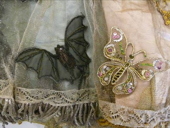 NIGHT&DAY dress by C.F. Worth 1858 - A fancy dress costume detail