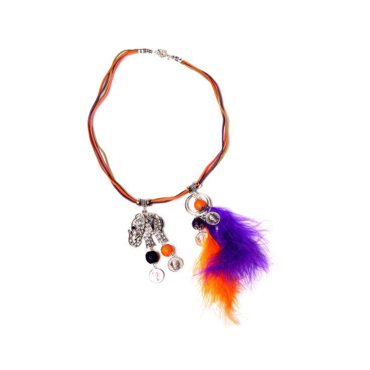 Collar Multicolor Pluma, MCN Joyas, $6.900.