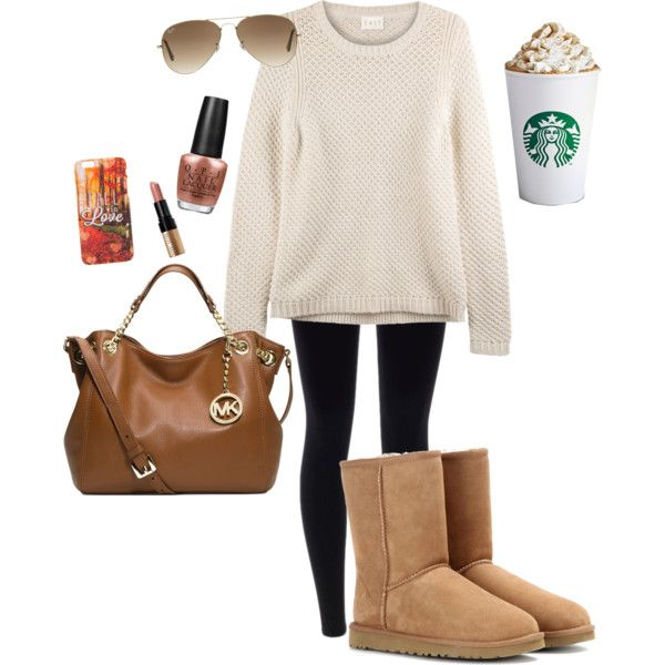 Basic White Girl Starter Kit by mom22angels on Polyvore featuring polyvore  fashion style EAST UGG Australia Michael Kors Ray-Ban Bobbi Brown Cos… 842005e92