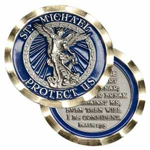 St Michael Protect Us Coin