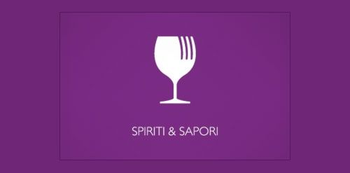 This restaurant #logo features a smart icon that includes a wineglass and a fork - designed by Stefano Rivolta