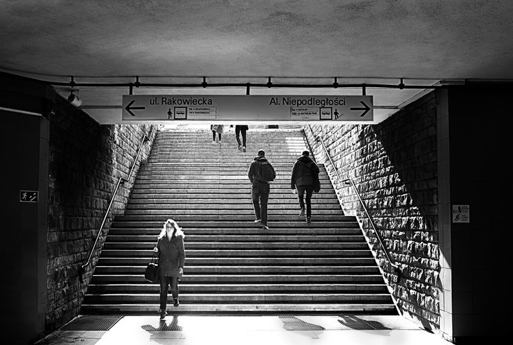 Sunny stairs - Taken during my everyday walk to the office. Today there was a very strong light comming to the underground passage.