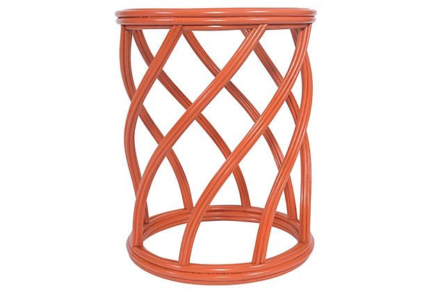 Madison End Table, Orange On OneKingsLane.com | FURNITURE : TABLES |  Pinterest | Orange Table, Kings Lane And Rattan