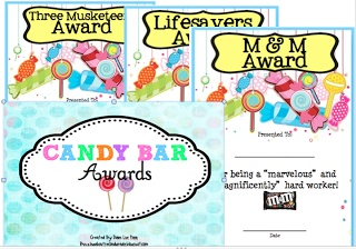 Buzzing About Second Grade: Candy Bar Awards