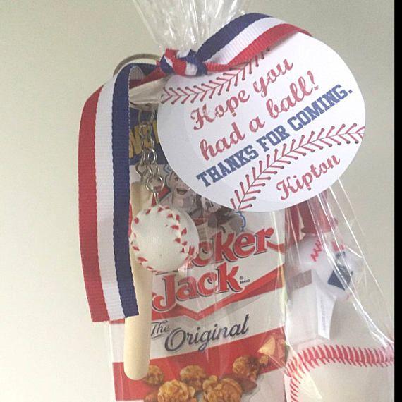 Baseball party tags PRINTABLE FILE vintage baseball baseball