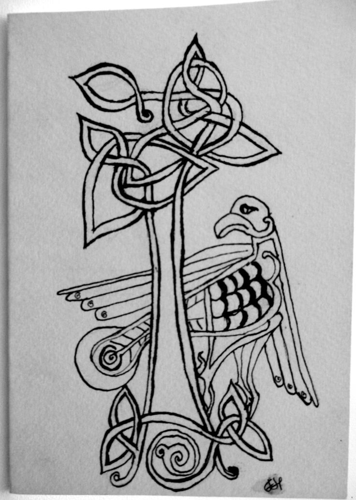 Celtic Bird and Tree Card by FHarrisArtShop on Etsy
