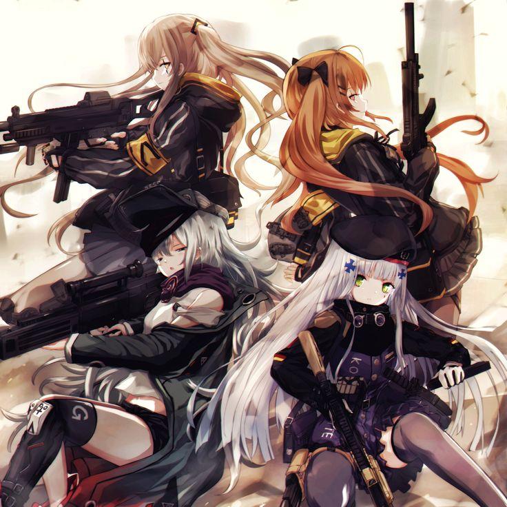 Anime, Military, Girls, Guns