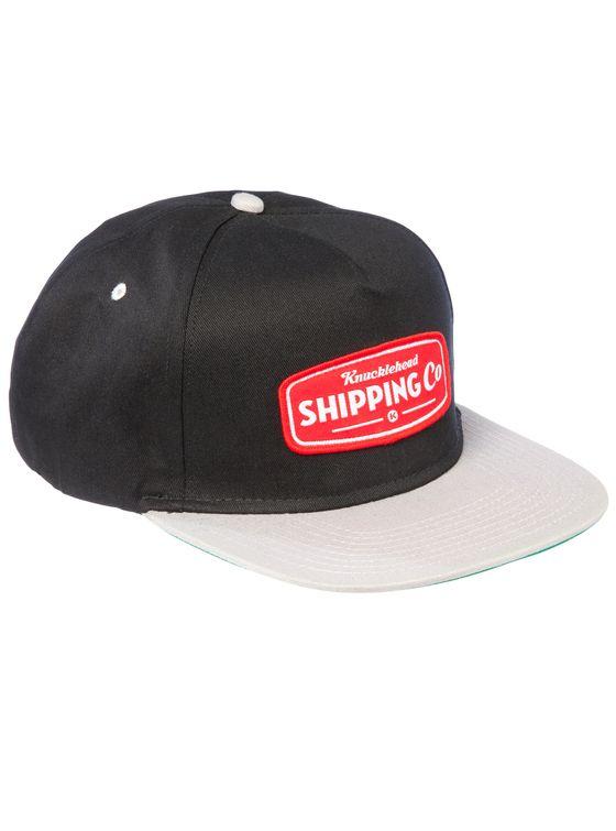 THE RED BLOCK Snapback 5 panle snap-back cap.