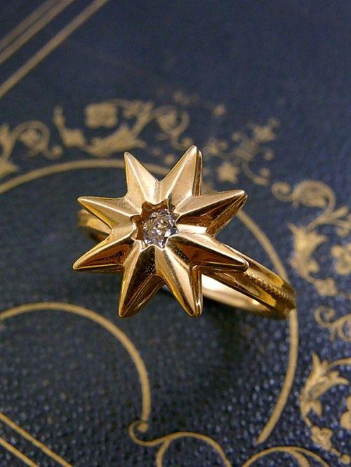 optoo オプト− 「 星 The Star 」リング ゴールド  タロットカード アクセサリー 写真1
