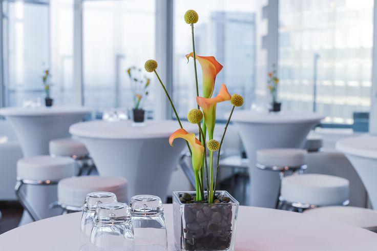 orange calla, flower, decoration, arrangement, blossoms