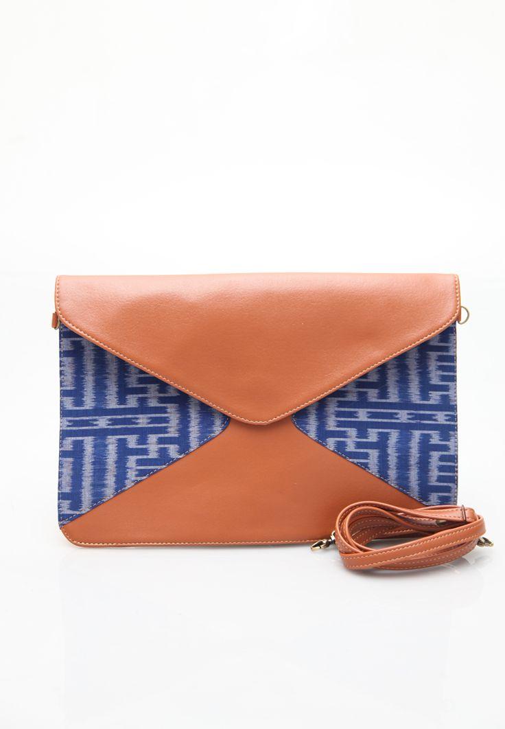 Manikan Envelope Ikat Bag, Ikat, Endek , Tenun, Daylight Clutch