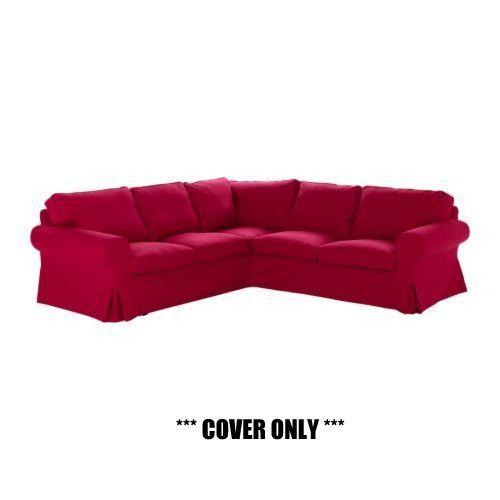 IKEA EKTORP - Slipcover for Corner Sofa 2+2 Idemo Red (cover only)