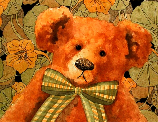 48 Best Images About Watercolor Teddy Bears On Pinterest