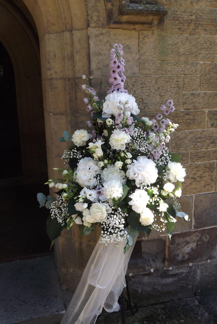 Hydrangea Pedestal Arrangement : Best images about white flower arrangement on
