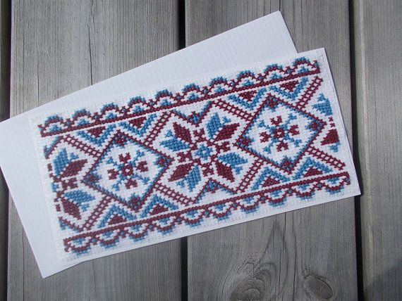 Traditional cross stitch bookmark pattern by CamisTheCrossStitch