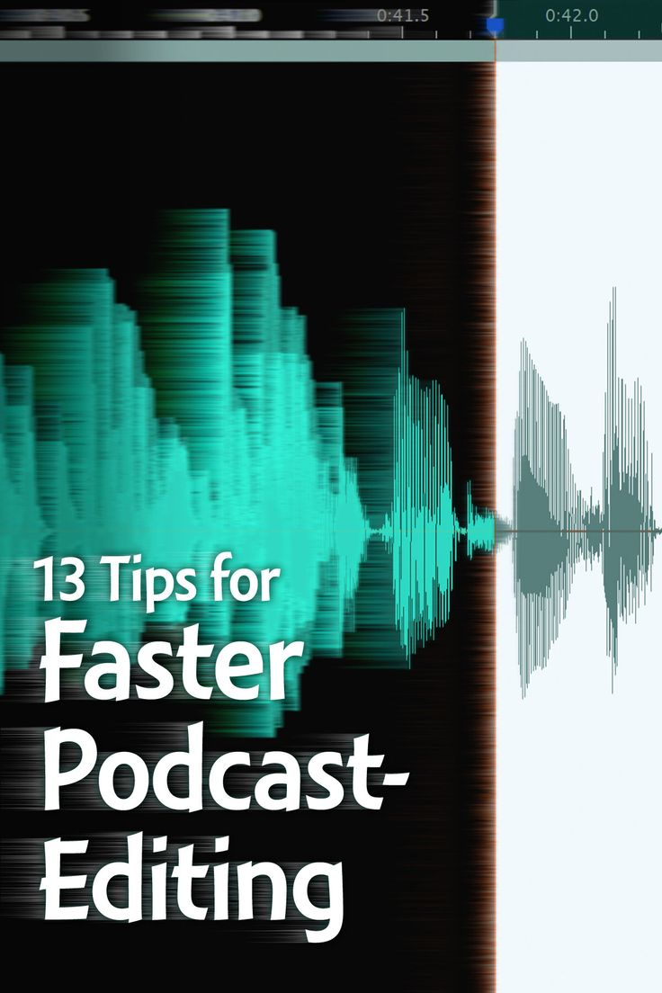 #Podcast editing is one of the most tedious and hated parts of #podcasting. Here are several tips for faster audio- and video-editing.
