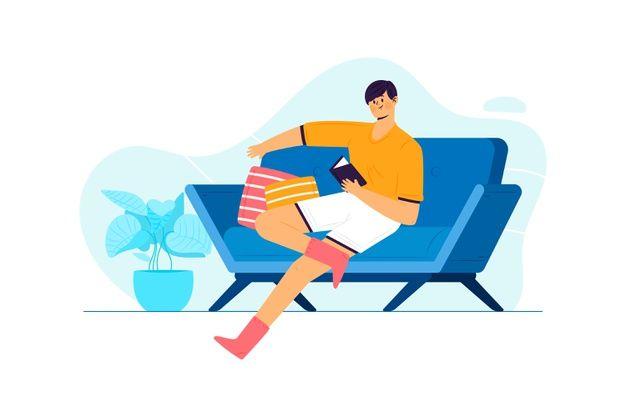Téléchargez Personne Relaxante à Domicile Concept Pour Illustration  gratuitement | Illustration, Flat illustration, Vector free