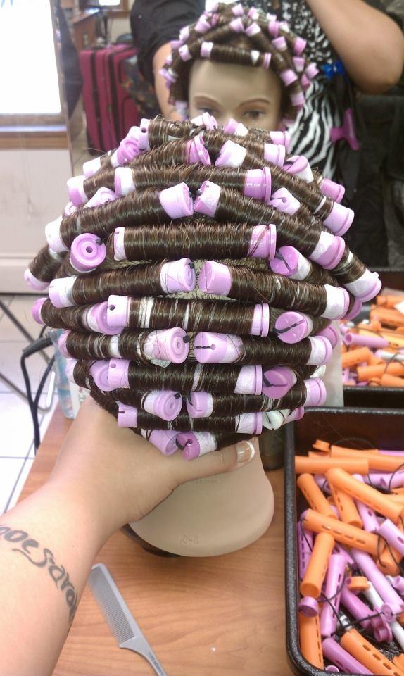 Simple Bricklay Perm Wrap Hair Design Pinterest
