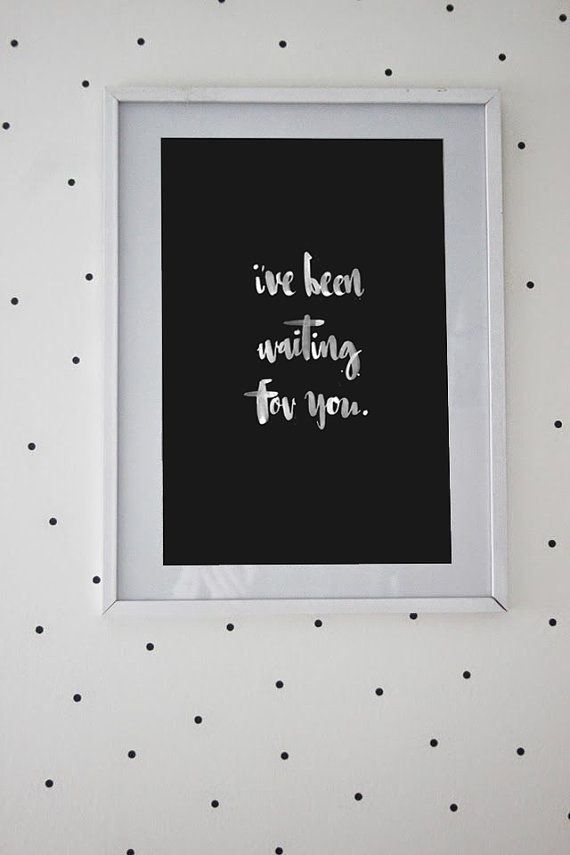 Hand lettered baby's nursery wall art by ElsieInvents, $30.00