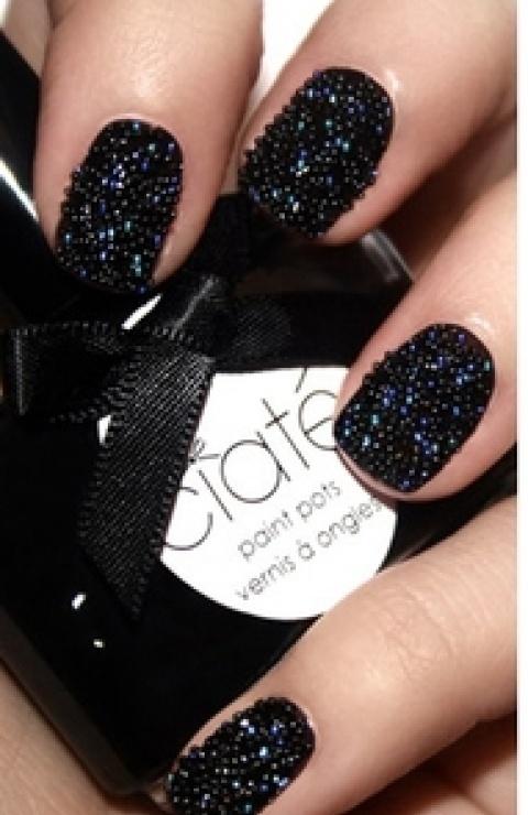 Must have black caviar nail polish materials. cute-nails-and-rings