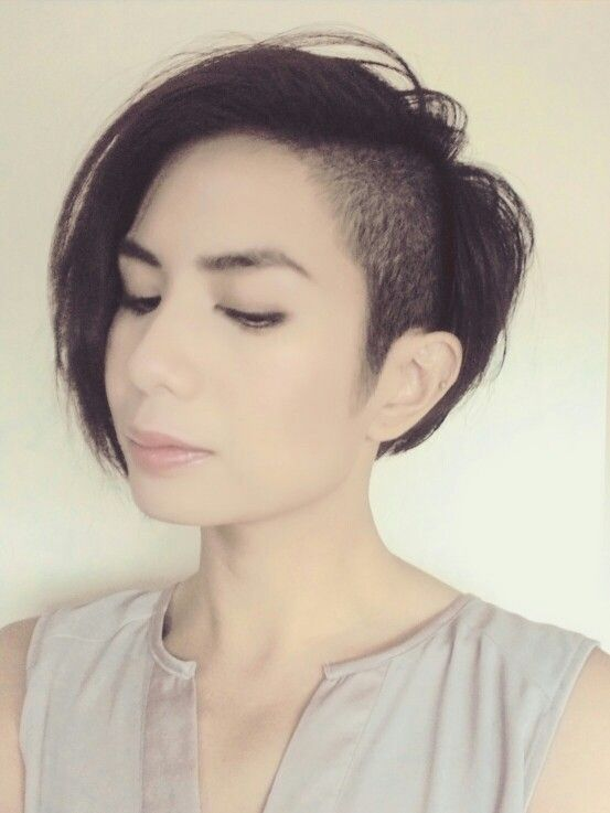 Side Shaved Assymetrical Bob Hair Pinterest Bobs And