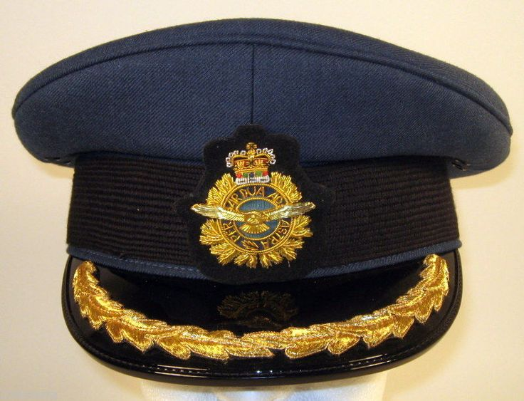 Canada Canadian Armed Forces Air Male Senior Officer Dress Hat Cap 7 1/2 60