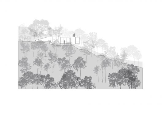 Viewing Pavilion on Hill. Tao Trace Architecture