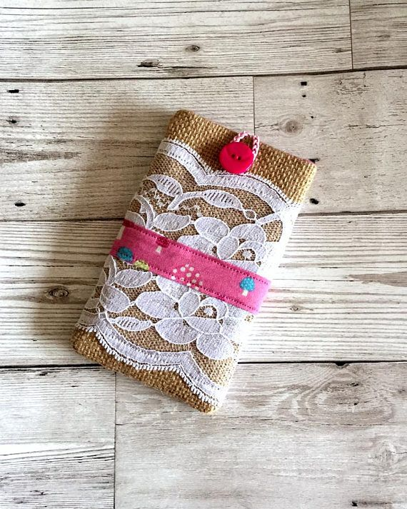 Burlap & Lace Mobile Phone Case Mobile Phone cover Iphone