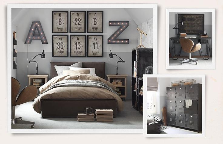 Rooms | Restoration Hardware | Boys Room | Industrial