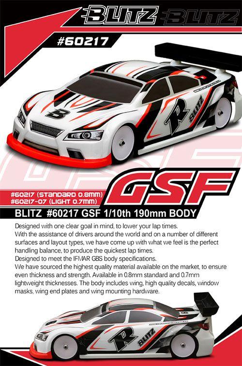 BLITZ Racing GSF 1/10 190mm karosszéria