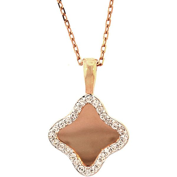 18K Rose Gold Diamond Necklace ($400) ❤ liked on Polyvore featuring jewelry, necklaces, jewelry & watches, nocolor, diamond necklace, rose gold diamond jewelry, pink gold jewelry, 18k jewelry and rose gold necklace